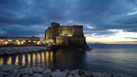 Naples Italien, pulcinellamaskering royaltyfria bilder