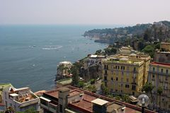 Naples. Italy. View of Naples. Sea and city royalty free stock image