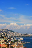 Naples, Italy. View of the bay of Naples, Italy Royalty Free Stock Photo