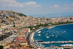 Naples, Italy. Bay and skyline of Naples, Italy Stock Images