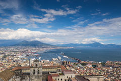 Naples bay and mount Vesuvius, Italy Stock Photo