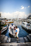 Naples, Italy. Ancient port city Royalty Free Stock Image
