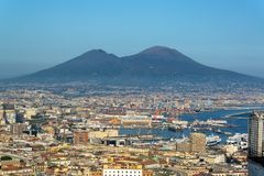 Naples and Mt Vesuvius royalty free stock photography