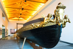 Naples. Italy - August 4, 2015: Certosa Di San Martino, a Royal barge in the naval museum area stock image