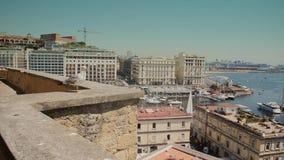 Naples, Italy, Borgo marinari stock video