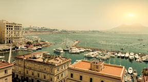 Naples, Italy, Borgo marinari Royalty Free Stock Photography
