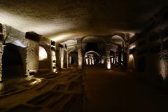 Naples, Italy - Catacombs of San Gennaro. Catacombs of San Gennaro located in Naples, Italy, Southern Europe Stock Photos