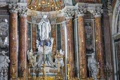 NAPLES, ITALY, DECEMBER 02,2017 : Beautiful ceiling above Gesu N. Uovo Italian: New Jesus church in Naples, Italy Stock Image