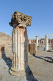 NAPLES, ITALY - JANUARY 19, 2010: pillar of Basilica in Pompeii. Royalty Free Stock Photo