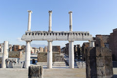 NAPLES, ITALY - JANUARY 19, 2010: Structure of Basilica in Pompe Royalty Free Stock Image