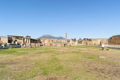 NAPLES, ITALY - JANUARY 19, 2010: Temple of Jupiter in Pompeii Royalty Free Stock Images