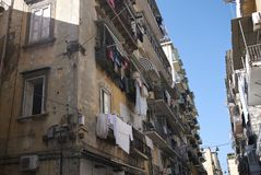View of building in Naples royalty free stock photos