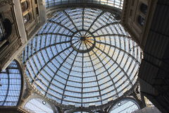 NAPLES, ITALY - JUNE 30, 2016: Galleria Umberto in Naples, Italy. Stock Images