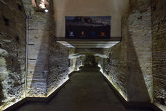 Naples, ITALY - JUNE 01: Naples ancient underground galleries at Naples, Italy on June 01, 2016 Royalty Free Stock Photography