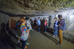 Naples, ITALY - JUNE 01: Naples ancient underground galleries at Naples, Italy on June 01, 2016 Stock Image