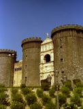 NAPLES, ITALY, 1984 - The Maschio Angioino or Castel Nuovo is a symbol of the medieval and renaissance history of the city. royalty free stock photos