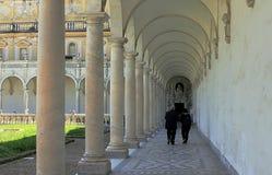 Santa Chiara Monastery cloister in Naples royalty free stock photo