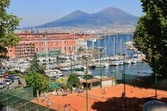 Naples, Italy, Mount Vesuvius Stock Photos