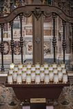 NAPLES, ITALY - 04 November, 201. Interiors and details of San Gregorio Armeno church stock photos