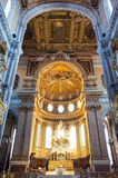 Naples. Italy, Naples, the paintings and decorations of the Duomo nave royalty free stock photo