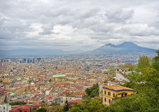 Naples Italy, Panoramic View Stock Image
