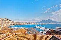 Naples - Italy. panoramic view from Mergellina Royalty Free Stock Photography
