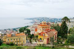 Naples, Italy - panoramic view of Posillipo Stock Image
