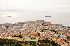 Naples, Italy - panoramic view from Sant`Elmo Castle Royalty Free Stock Images