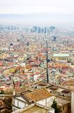 Naples, Italy - panoramic view of Spaccanapoli, the street that divides the city Stock Image