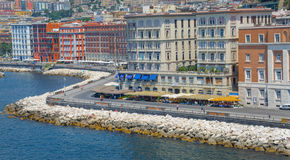 Naples, Italy, promenade caracciolo Stock Photos