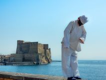 Naples, italy, pulcinella mask stock image