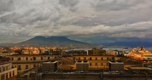 Naples Italy, Rooftop View stock photography