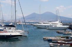 Naples, Italy. The tourist harbor of Mergellina Royalty Free Stock Image