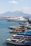 Naples, Italy. The tourist harbor of Mergellina Stock Photo