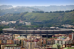 Naples, Italy. View of the city and stadium Royalty Free Stock Photo