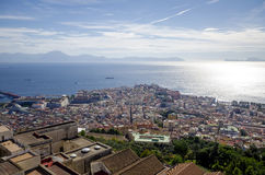 Naples, Italy, view panorama. With island Capri and Sorrento Stock Photos