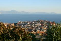 Naples, italy. View of naples, italy from the san martino monastery Royalty Free Stock Photo