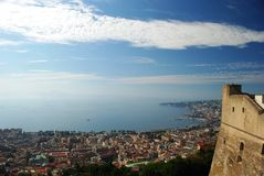 Naples and its castle Stock Image