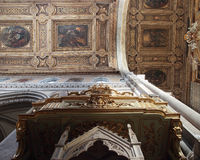 Baroque pulpit in San Januarius in Naples Stock Images