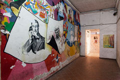 Naples juridiskt psykiatriskt sjukhus för murales Royaltyfri Fotografi