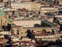 Naples - kloster av Santa Chiara från San Martino arkivbild