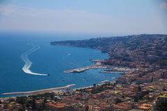 Naples kust Arkivfoton