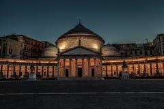 Naples kyrka av helgonet Francesco di Paola Arkivbild