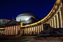 Naples kyrka av helgonet Francesco di Paola Arkivfoton