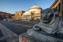 Naples kyrka av Sain Francesco di Paola Royaltyfri Foto