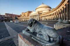 Naples kyrka av Sain Francesco di Paola Royaltyfri Fotografi