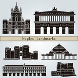 Naples landmarks and monuments Royalty Free Stock Photography