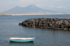 Naples. Landscape of the city 'of Naples in the background the volcano Vesuvius Royalty Free Stock Photo