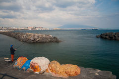 Naples-landscape of mergellina Royalty Free Stock Images