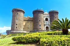 Naples Maschio Angioino Arkivbild